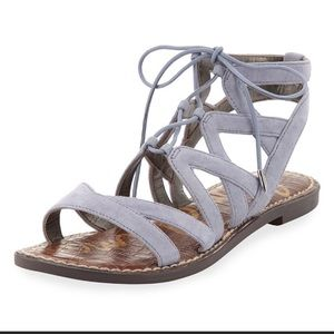 SAM EDELMAN GLADIATOR GEMMA SANDAL DUSTY BLUE